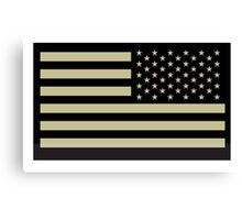AMERICAN ARMY, Soldier, American Military, Arm Flag, US Military, IR, Infrared, Reflective, USA, Flag, on BLACK Canvas Print
