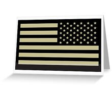 AMERICAN ARMY, Soldier, American Military, Arm Flag, US Military, IR, Infrared, Reflective, USA, Flag, on BLACK Greeting Card