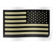 AMERICAN ARMY, Soldier, American Military, Arm Flag, US Military, IR, Infrared, Reflective, USA, Flag, on BLACK Poster