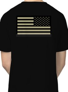 AMERICAN ARMY, Soldier, American Military, Arm Flag, US Military, IR, Infrared, USA, Flag, Reverse side flag, on BLACK Classic T-Shirt
