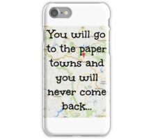 Paper towns. iPhone Case/Skin