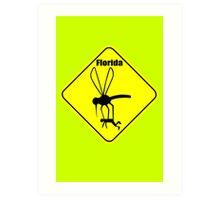 Florida state bird the mosquito geek funny nerd Art Print