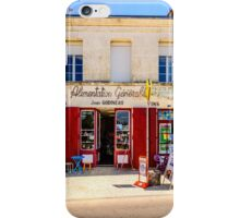 Shop tabac in a village in Charente Maritime, France iPhone Case/Skin