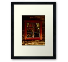 Cottage window. Lappland - Sweden . by Brown Sugar . Views ( 182) thank you very much ! Framed Print