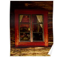 Cottage window. Lappland - Sweden . by Brown Sugar . Views ( 182) thank you very much ! Poster