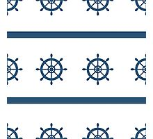 Sailor Nautical Marine Pattern Photographic Print