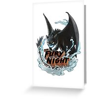 The Fury of the Night Greeting Card