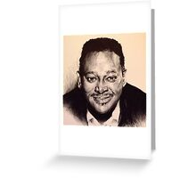 LUTHER VANDROSS PORTRAIT Greeting Card