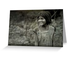 The Innocent Tribal Girl Greeting Card