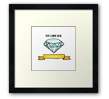 Diamond Darling Framed Print