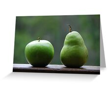 The Apple & Pear Sat Quietly Taking in the View... Greeting Card