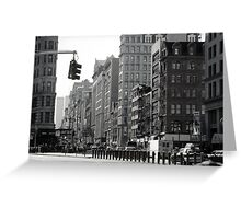 Fifth Avenue and Broadway Greeting Card