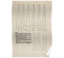 Measurement With Compass Line Leveling Albrecht Dürer or Durer 1525 0079 Repeating Shapes Poster