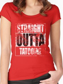 Straight OUTTA Tatooine - Star Wars - distressed Women's Fitted Scoop T-Shirt
