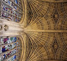 Stone vaulting, Kings College, Cambridge. by John Dalkin