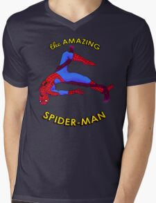Amazing Spider-Man Mens V-Neck T-Shirt