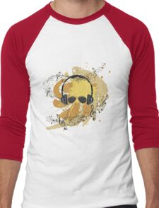 Male Dj Illustration 3 Men's Baseball ¾ T-Shirt