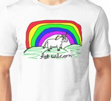 sketchy fat unicorn Unisex T-Shirt