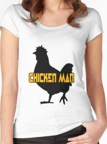 Chicken man geek funny nerd Women's Fitted Scoop T-Shirt