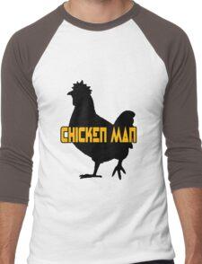 Chicken man geek funny nerd Men's Baseball ¾ T-Shirt