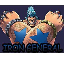 one piece iron general franky straw hat anime manga shirt Photographic Print