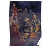 Boardgames at Night Poster