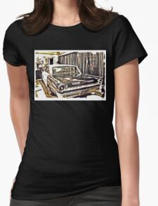 """""""An Extremely Popular Squad Car""""... prints and products Womens Fitted T-Shirt"""