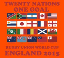 Twenty Nations One Goal T Shirts and Gifts Kids Clothes