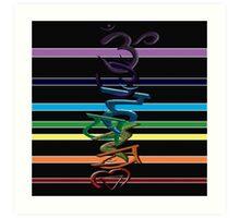 CHAKRA RAINBOW GAY PRIDE Art Print