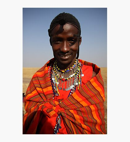 Masai villager Photographic Print