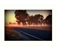 golden mile, murray valley hwy, rutherglen, vic Art Print