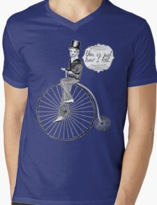 """"""" This Is Just How I Roll """" - Penny Farthing Gent Mens V-Neck T-Shirt"""