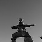 Standing tall Inukshuk by Brenden Bencharski