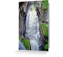 Maligne Canyon, Jasper National Park, Alberta, Canada Greeting Card
