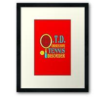 Funny tennis geek funny nerd Framed Print