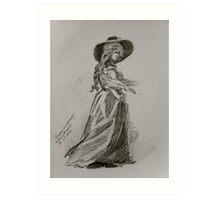 Hirl with Hat - Anthony Mitchell Drawing Art Print