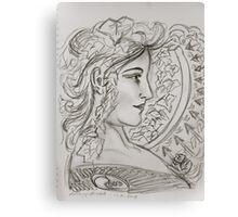 Woman Art Nouveau - Anthony Mitchell drawing  Canvas Print