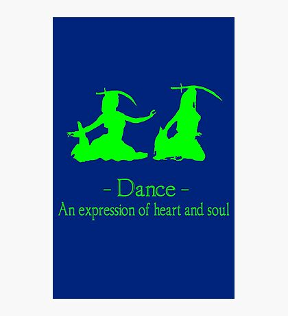 Green and black long sleeve belly dance bellydance geek funny nerd Photographic Print