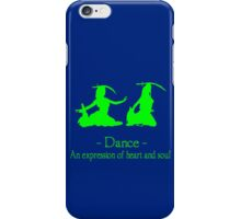 Green and black long sleeve belly dance bellydance geek funny nerd iPhone Case/Skin