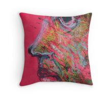 "Face, Bernard Lacoque-16  ""Self-portrait and avatar"" Throw Pillow"