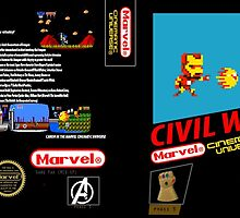 CAPTAIN AMERICA:CIVIL WAR NES STYLE PRINT by Scorp2n