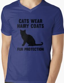 Fur Protection Mens V-Neck T-Shirt