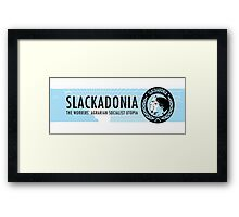 Slackadonia: The Workers' Agrarian Social Utopia Framed Print