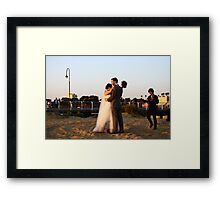 Hold that thought, while I change the film ... oh wait, it's digital! Framed Print