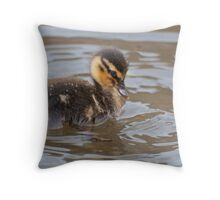 Little Mallard Duckling Throw Pillow