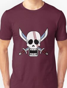 one piee red hair shanks jolly roger anime manga shirt T-Shirt