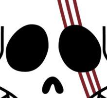 one piee red hair shanks jolly roger anime manga shirt Sticker