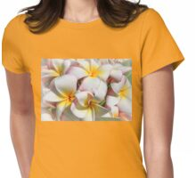 Soft Plumeria Natural Bouquet Womens Fitted T-Shirt