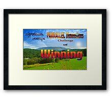 PARRALLEL Dimensions Challenge Winner Banner Framed Print