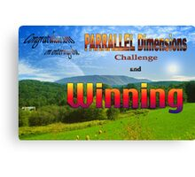 PARRALLEL Dimensions Challenge Winner Banner Canvas Print